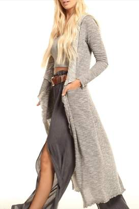 Lucy-Love Lucy Love Hooded Maxi Sweater