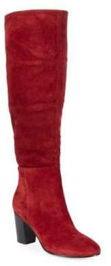 Karl Lagerfeld Paris Tulle Tall Suede Boots