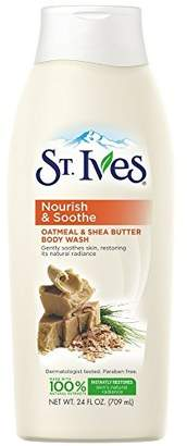 St. Ives Oatmeal and Shea Butter Moisturizing Body Wash 24 oz (Pack of 12)