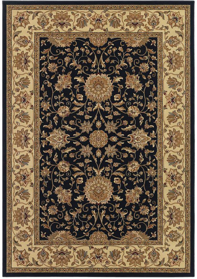 "CouristanCouristan Area Rug, Tamena TAM881 Isfahan Black 2'7"" x 7'10"" Runner Rug"