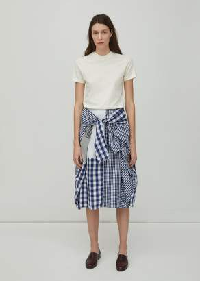 Zucca Patchwork Gingham Skirt White
