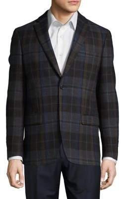 Lauren Ralph Lauren Tartan Wool Button-Front Jacket