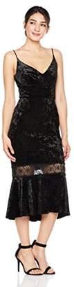 Cambridge Silversmiths The Collection Women's Spaghetti Straps Velvet Dress with Flounce Skirt 8