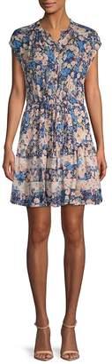 Rebecca Taylor Women's Gigi Floral Silk Shirtdress
