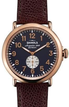 Shinola 47mm Runwell Leather Watch $625 thestylecure.com