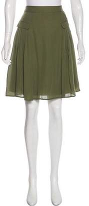 Paul & Joe Silk Pleated Knee-Length Skirt