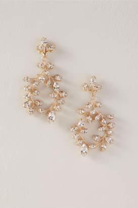 New View Elizabeth Bower Vine Crystal Chandelier Earrings