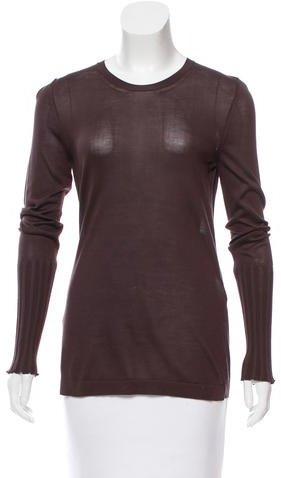 Hermès Silk Long Sleeve Top