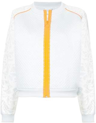 Sophia Webster Puma X contrast-trim panelled bomber jacket