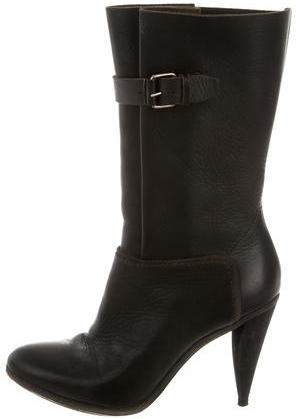 Balenciaga  Balenciaga Mid-Calf Leather Boots