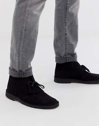 Clarks desert boots in black suede