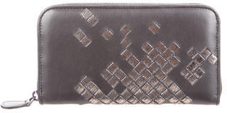 Bottega Veneta Bottega Veneta Nappa Intrecciato Zip Around Wallet