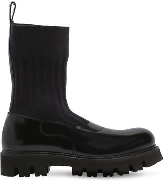 Rocco P. 30mm Elastic & Brushed Leather Boots