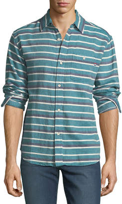 Sol Angeles Men's Glade-Striped Jacquard Sport Shirt