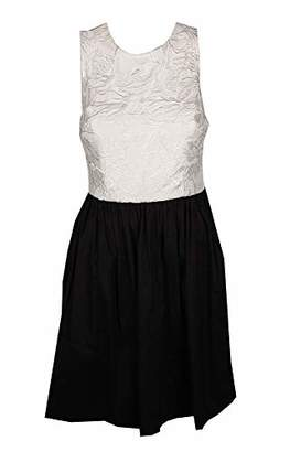 Betsey Johnson Women's Lace/Cotton Fit and Flare Dress with Pockets
