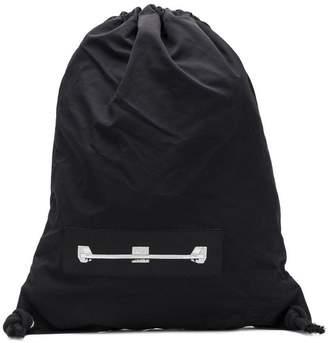 Rick Owens graphic print drawstring backpack