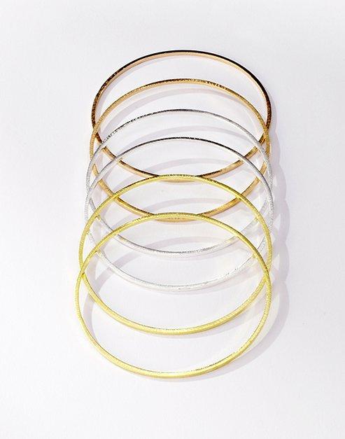 Morra Designs, Tri color square wire bangles