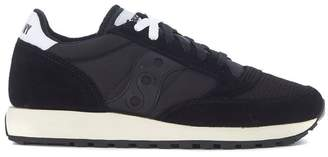 Saucony Sneaker Jazz In Black Suede And Fabric