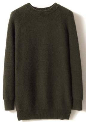 e299d38a2cef LONGMING Women s Winter Cashmere Knitted Crewneck Long Sleeve Warm Wool  Pullover Sweater (XL