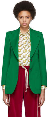 Gucci Green Wool Blazer