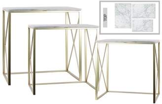 Urban Trends Collection: Metal Console Table Metallic Finish Champagne