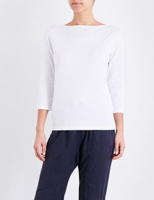 Sunspel Boat neck cotton-jersey top $74 thestylecure.com