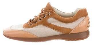 Hogan Square-Toe Low-Top Sneakers