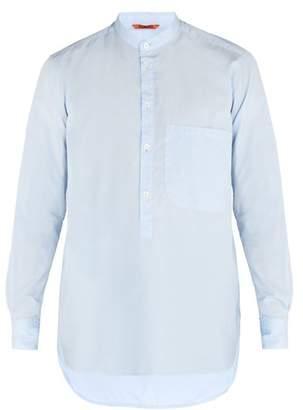 Barena Venezia - Granddad Collar Cotton Poplin Shirt - Mens - Light Blue