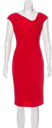 Lauren Ralph Lauren Cowl Neck Sleeveless Dress