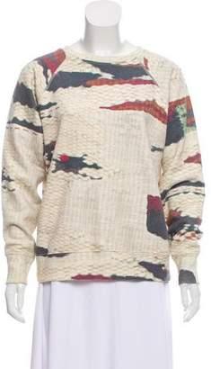 Etoile Isabel Marant Printed Long Sleeve Sweater