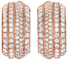 Piaget Possession Band Earrings with Diamonds in 18K Red Gold