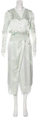 ATTICO Embroidered Lightweight Robe