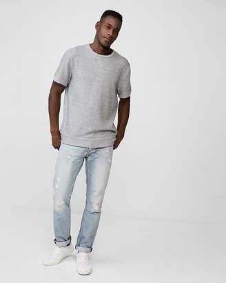 Express Vintage Fleece Short Sleeve Sweatshirt