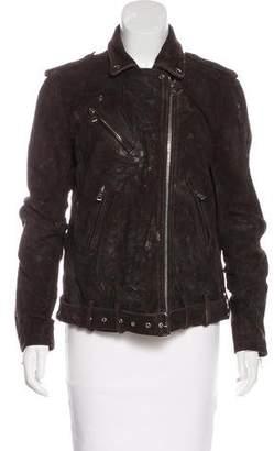 Balmain Distressed Suede Jacket