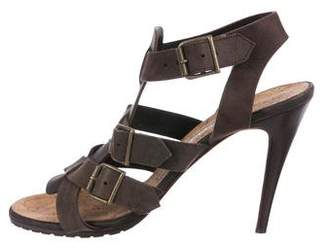 Manolo Blahnik Leather Buckle Sandals