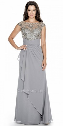 Decode 1.8 Ruched Waist Floral Cap Sleeve Evening Dress $258 thestylecure.com