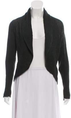 Bergdorf Goodman Wool Rib Knit Cardigan