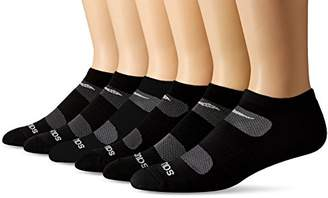 Saucony Men's 6 Pack Performance Comfort Fit No-Show Socks