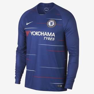 Nike 2018/19 Chelsea FC Stadium Home Men's Long Sleeve Soccer Jersey