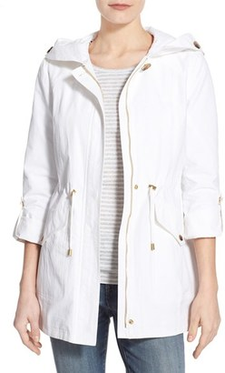 Women's Ellen Tracy Roll Sleeve Sail Cloth Anorak $210 thestylecure.com