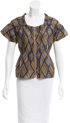 Bottega Veneta Bottega Veneta Abstract Print Silk Top