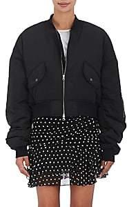 BLINDNESS Women's Pierced Insulated Bomber Jacket - Black