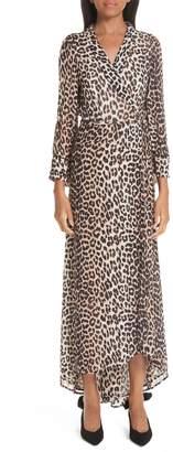 Ganni Print Georgette Dress