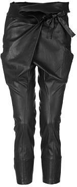 IRO Black Leather Pants