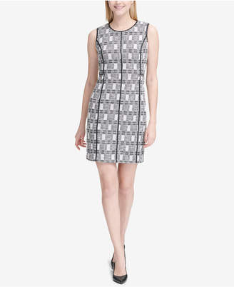 Calvin Klein Tweed Sheath Dress