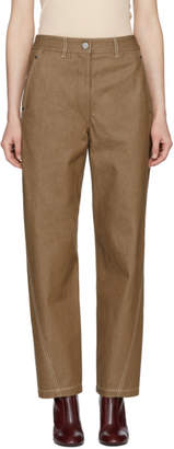 Lemaire Brown Twisted Jeans