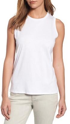 Women's Eileen Fisher Organic Cotton Jersey Shell $78 thestylecure.com