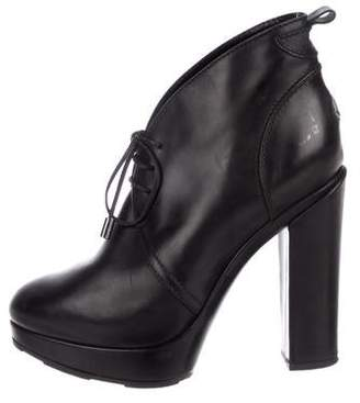 Moncler Leather Platform Booties