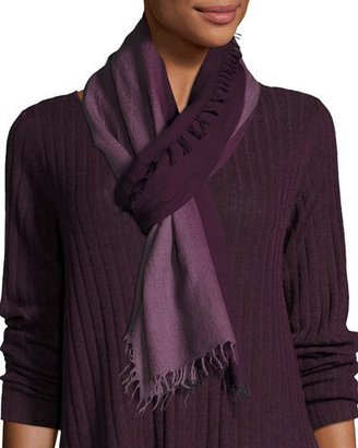 Eileen Fisher Silk-Cashmere Ombre Scarf $118 thestylecure.com