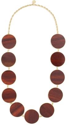 Philippe Audibert 'Naia' circle wood plate link necklace